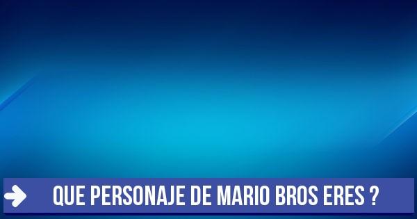 Test Que Personaje De Mario Bros Eres