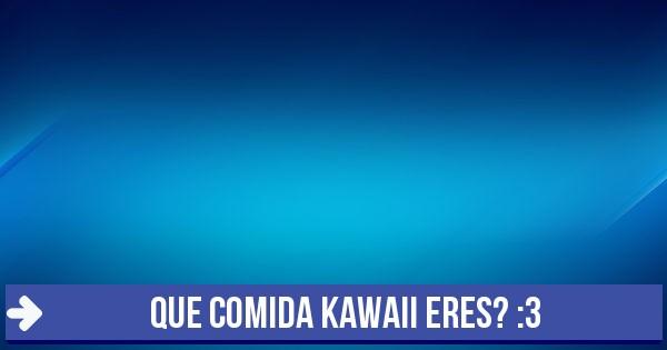 Test Que Comida Kawaii Eres 3